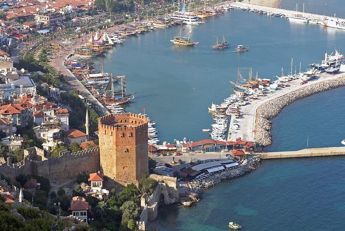 Крепость Аланьи и Красная башня