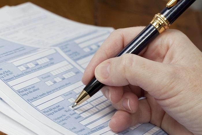Анкета и ручка