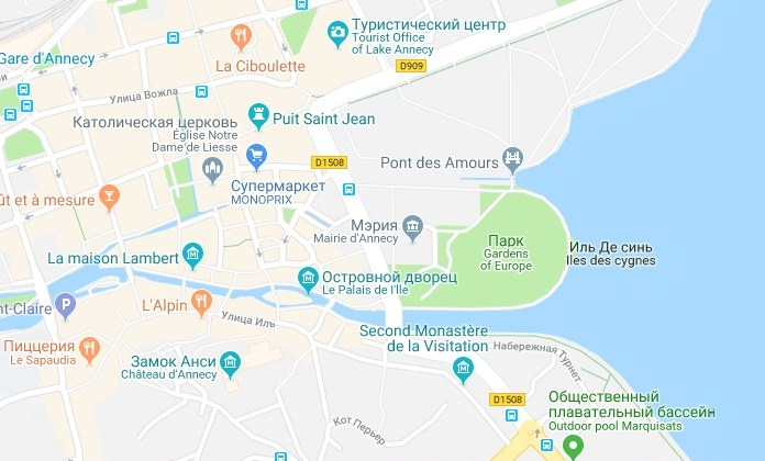 Французский город Анси: его достопримечательности с фото и описаниями