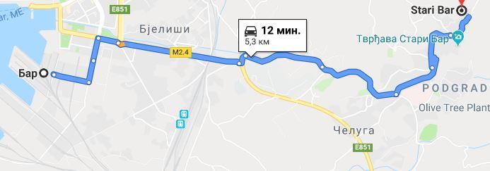 Автомобильный маршрут из Нового Бар в Старый